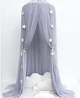 Mosquito Net - Round Baby Bed Mosquito Net Dome Hanging Cotton Canopy Kids Curtain - Large Above Infant Mesh Double Roll Eno Men Balcony Treated