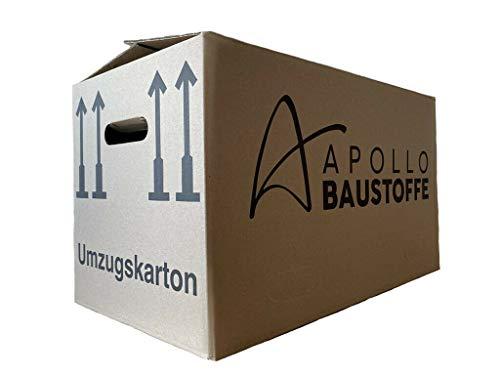 20 PROFI UMZUGSKISTE Umzugskarton Movebox Bookbox KARTON 2-Wellig DOPPELTER BODEN sehr stabil
