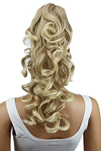 PRETTYSHOP 40cm Haarteil Zopf Pferdeschwanz Haarverlängerung Voluminös Gewellt Hellblond H209