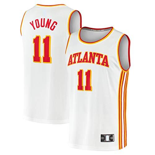 Camiseta de baloncesto Trae Traning Joven Sports Atlanta Hawks #11 Fast Break Player Jersey Blanco - Edición Asociación-XL
