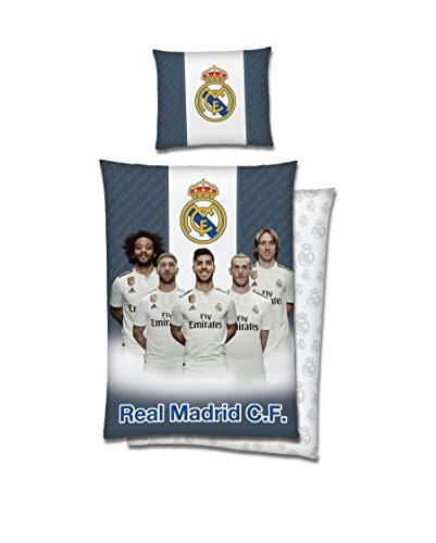 Tex idea Real Madrid Bettwäsche-Set 140x200cm Baumwolle mit Reißverschluss Players Spieler