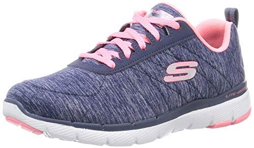 Skechers Women's Flex Appeal 3.0 Sneaker, Navy Coral, 8 M US