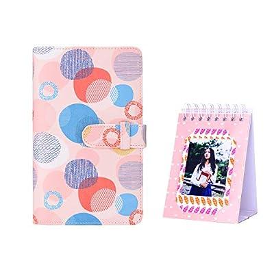Bsuuy Mini Photo Album - Fits for Fujifilm Instax Mini 11 9 8 8+ 90 25 7s 50s, Polaroid Snap PIC-300, Kodak Mini 3-Inch Film, Free Desk Calendar Album (108 Pocket Donuts)