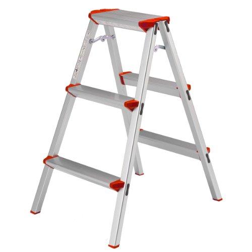 ALINCO(アルインコ) 3段踏み台【高さ79 天板27×16cm】 CCA-80K 脚立 幅広 軽量 アルミ 製品安全協会認証