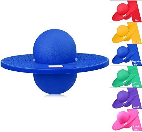 QYWSJ Balance Jump Board Ball Hopper Balance, Pogo Ball, Palla Fitness Multifunzionale con Piattaforma Spessa, per Esercizi Aerobici di Equilibrio...