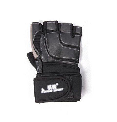 Handschützer Männlicher und weiblicher Halbfinger-Handballenschutz Fahrradhandschuhe schwarz 19-21cm 21-23cm 23-25cm (größe : 19-21cm)