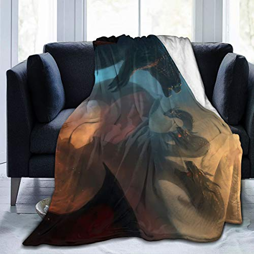Fashion Fleece Bed Blankets, Godzilla, Mothra Vs King Ghidorah, Rodan Best Fight Scene Christmas Throw Blankets, All Seasons Super Soft Warm Blanket for Kids Recliner Floor