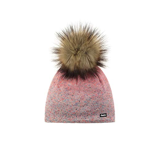 Eisbär Damen Tiana Lux Crystal MÜ Mütze, coralleffekt-Corallerot/Real