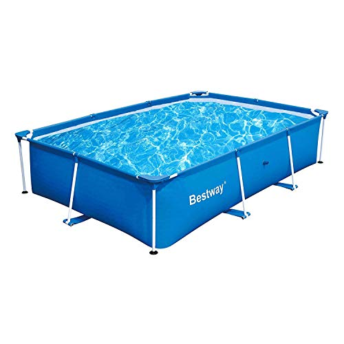 Bestway 56498 Deluxe Splash 9.8' x 6.7' x 26' Kids Rectangular Above Ground Swimming Pool (Pool Only)