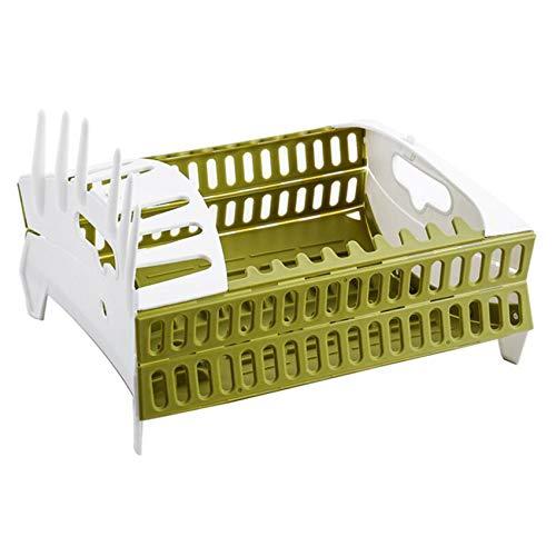 Weiy Küchenaufbewahrungsbox Klappregal Klappgeschirr Standbecherhalter für Küchenspüle Waschregalplatte,Grün