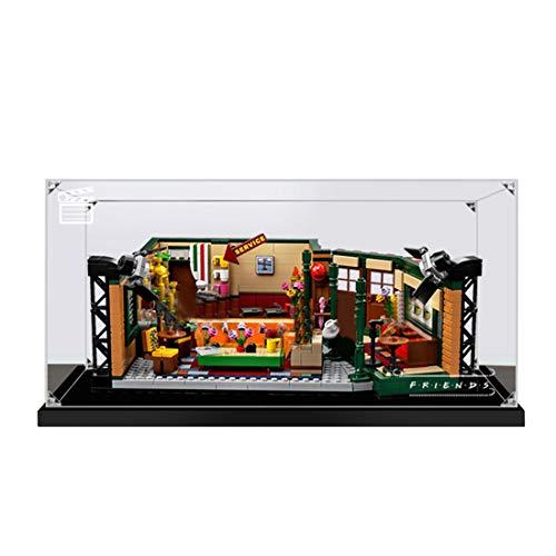 Lommer Vitrina acrílica compatible con Lego Friends Cafe 21319, caja expositora para Lego 21319 (el modelo Lego no está incluido).