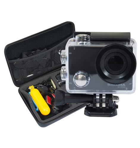 Salora ACP550 - Action Camera - Ultra HD - 4K - Wifi - Display - Opbergcase - Accessoires