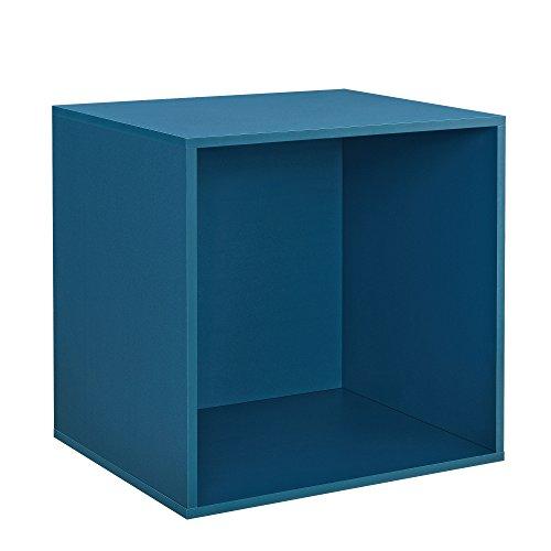 [en.casa] Design Wandplank-Wandkast-45x45x40cm-turquoise