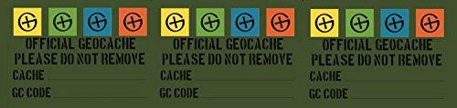 GEO-VERSAND 10 x Geocaching Sticker - English Filmdosen Oder Petlinge, grün, 10505
