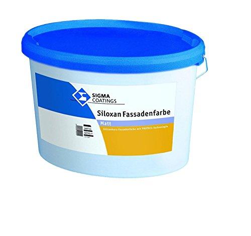 SIGMA Siloxan Fassadenfarbe Weiß matt 12,5 Liter mit Protecstechnologie
