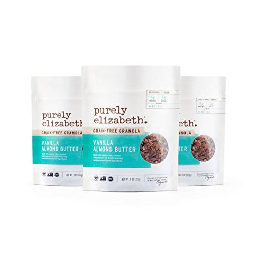 Purely Elizabeth Grain-Free Granola + Baked With MCT Oil, Paleo + Keto Certified - Vegan & Gluten-Free - Vanilla Almond Butter - 3 Pack