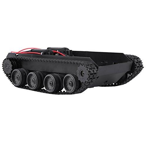 Zunate Tankchassis,Aufgespürter Auto Intelligent Leichte stoßdämpfende Plastiktank-Bausatz,130 Motor,3V-7V, zur Herstellung von Panzerspielzeug Roboterprojekten usw