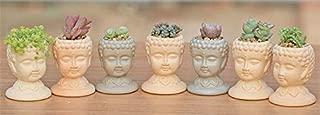 Head Planter - Silica Gel Garden Decoration Silicone Mold 3D vase molds Cement Planter Handicraft Mould Buddha Head Flower pots handemade Mold