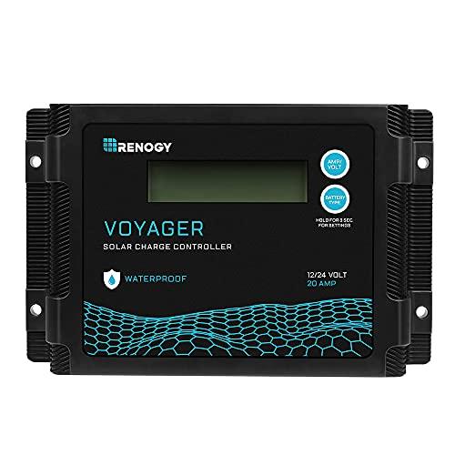 Renogy Neue Version Voyager 20A PWM Wasserdichter Solar Laderegler, 20 Amp