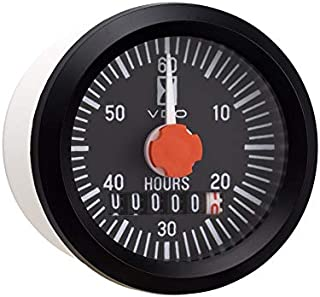 Vdo Instruments Electrical Cockpit International Hour Meter Gauge with Minute Hand
