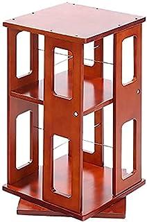 HXCD Étagère de Rangement avec étagère à 360 degrés, Rotation à 360 degrés, Support de Sol à 3 Couches, bibliothèque Simpl...