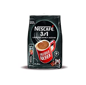 NESCAFÉ 3 en 1 – Café Soluble con Leche y Azúcar – 9 Bolsas con 10 sticks de 17g. Total 1,53Kg