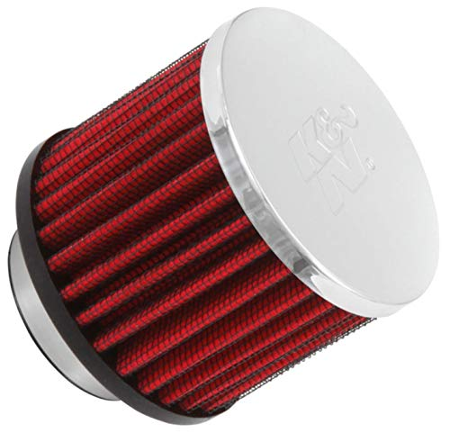 K&N Vent Air Filter/ Breather: High Performance, Premium, Washable, Replacement Engine Filter: Flange Diameter: 1.5 In, Filter Height: 2.5 In, Flange Length: 0.4375 In, Shape: Breather, 62-1460
