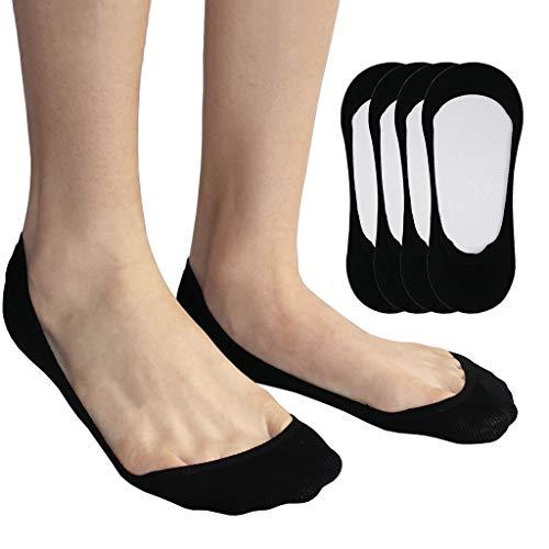 Unsichtbare No Show Socken Damen,Ultra Tief Geschnittene,Baumwolle,Rutschfeste Frauen Socke für Bootsschuhe, Sneakers,Wohnungen and Pumps