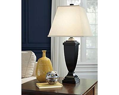 Signature Design by Ashley - Amerigin Table Lamps - Set of 4 - Elegant Style - Bronze Finish (Amerigin)