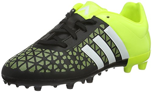 adidas Ace15.3 Terrain, Chaussures de Football Compétition garçon, Multicolore (Black / Yellow / White), 35 EU
