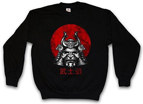 Urban Backwoods Bushido Samurai I Sweatshirt Pullover Schwarz Größe M
