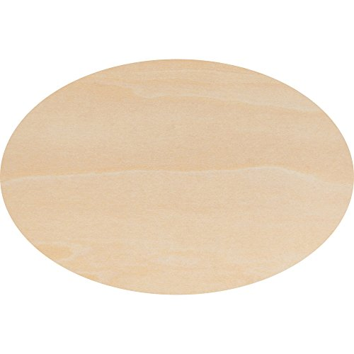 Wooden Oval Cutout 8.5 x 12 Inch, Bag of 3 Unfinished Wood Oval Cutout Shape (1/8 Inch Thick) by Woodpeckers