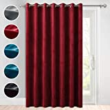StangH Light Blocking Curtains Velvet - Extra Long Curtains for High Ceiling Large Window Decor Room Divider Curtains for Stage/Ceremony/Shop/Dining, 100 inch Wide by 108 inch Long, 1 Panel