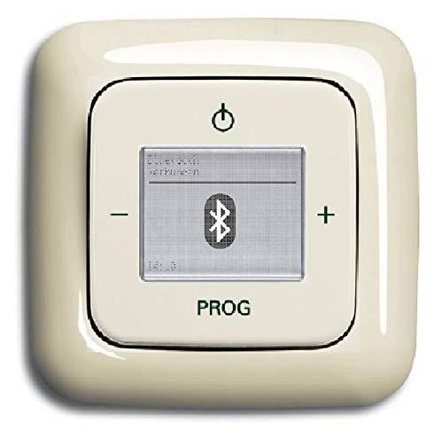 Busch Jäger Unterputz UP Bluetooth Radio (8217U) DURO2000 cremweiß glänzend - Set mit Radioeinheit 8217 U, Rahmen und Radioabdeckung
