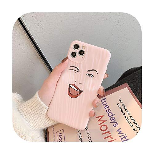 Funny Expression Cute Girl Cassa Del Telefono Per iPhone 11 Pro Max XR X XS Max 7 8 6 6s Plus Morbido TPU Stampa Posteriore Cover Bag-style 02-iphone7 8