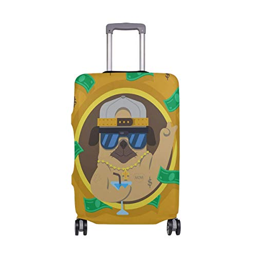 Divertido Hip Hop Pug Dollar Cross Travelers Choice Travel Equipaje con Ruedas giratorias Maleta de Equipaje de 24 Pulgadas