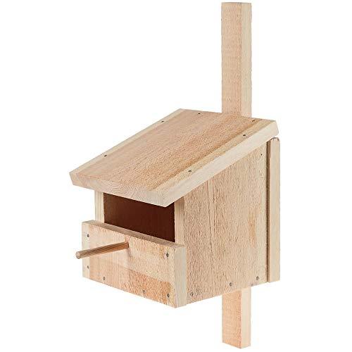 matches21 Nistkasten Höhle/Halbhöhle als Massiv Holz Bausatz Bastelset Werkset für Kinder Lehrmittel ab 12 Jahren