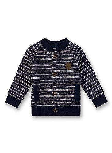 Sanetta Sanetta Baby-Jungen Sweatjacket Sweatjacke, Blau (Deep Blue 5993.0), 80