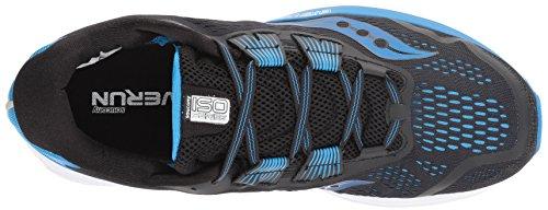 Saucony Men's Zealot ISO 3 Running Shoe, Black/Blue, 7.5 Medium US
