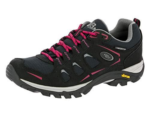 Brütting MOUNT FRAKES LOW Damen Trekking- & Wanderhalbschuhe, Schwarz/ Pink, 42 EU