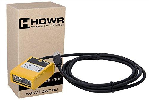 Fixe USB Petit Professional 1D / 2D lecteur de codes-barres, avancée, boîtier en métal, QR Code, AZTEC, MaxiCode, DataMatrix HD201