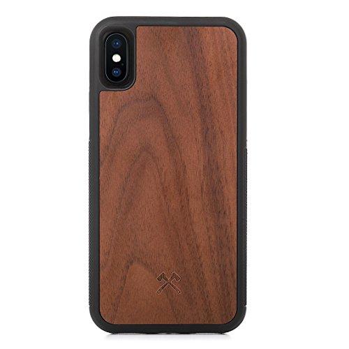 Woodcessories - Hülle kompatibel mit iPhone X/Xs aus Holz - EcoBump Case (Walnuss)