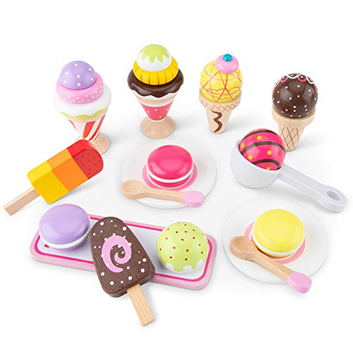 New Classic Toys Ice Cream Selection, Multicolore, Set Gelato, 10630