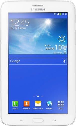 Samsung Galaxy Tab 3 Lite T111, 7 Pollici (17,8 cm) Tablet (Processore Dual Core 1,2GHz, 1GB RAM, Memoria interna 8GB espandibile tramite MicroSD, Fotocamera 2.0Mpx, 3G, Wi-Fi, Android 4.2 Jelly Bean) Bianco [Italia]