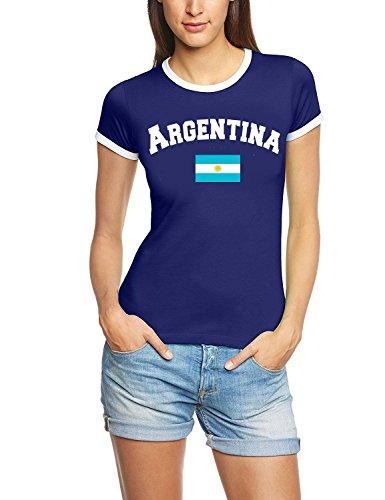 Coole-Fun-T-Shirts Argentinien T-Shirt Damen Navy, Gr.M