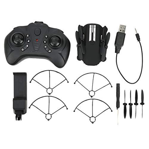 Drone GPS RC Drone Quadcopter Mini Drone Pieghevole WiFi Professionale con Telecamera ad Alta Definizione, Controllo App per Principianti(0.3MP-480P-Nero)