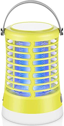 Serrale Bug Zapper Light 2 en 1 para Exterior e Interior Mosquito Killer electrónico Impermeable portátil Recargable Linterna de Camping para jardín