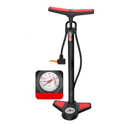 Bomba de bicicleta, bomba de piso portátil para bicicleta, inflador de neumáticos, bomba activada por pie de alta presión, 160 psi con barómetro para ciclismo, deportes al aire libre