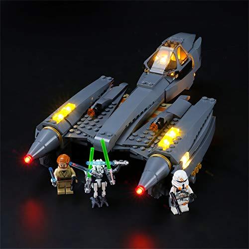 lego star wars grievous LIGHTAILING Set di Luci per (Star Wars Starfighter del Generale Grievous) Modello da Costruire - Kit Luce LED Compatibile con Lego 75286(Non Incluso nel Modello)
