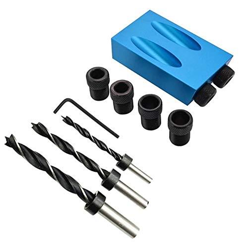LT-Tool, 14pcs / Set 6/8/10 mm Taladro Guía bits Llave Hexagonal 15 Grados Oblicua Hole Posicionador taladros de perforación Plantilla de la Abrazadera de la carpintería Kit